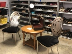 Thrift Store- chair and side table display